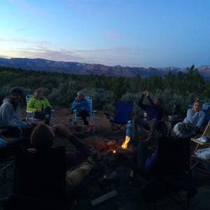 Winding down after a productive day. #patagoniatrailrunning